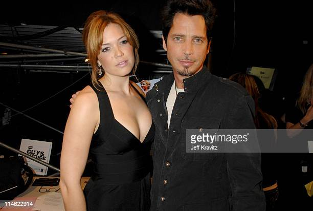 Mandy Moore and Chris Cornell during First Annual Spike TV's Guys Choice - Backstage and Audience at Radford Studios in Los Angeles, California,...