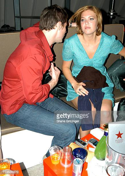 Mandy Moore and Guest during The Star Rooms 2005 Memorial Day Party with Special Guest DJ AM at Star Room in East Hampton, New York, United States.
