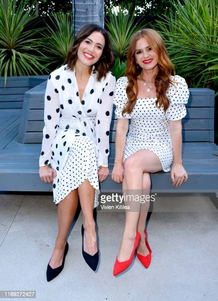 Mandy Moore and isla Fisher attend the Rothy's Conscious Cocktails event at a private residence on August 20 2019 in Los Angeles California