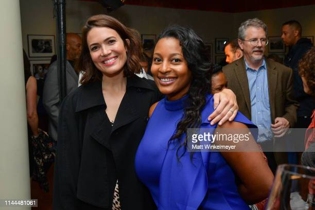 Mandy Moore and Jessica Chandler attend the LA premiere of HBO's Foster on April 22 2019 in Los Angeles California