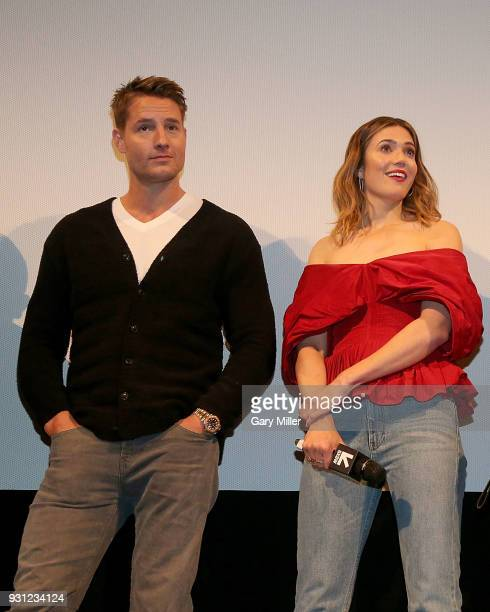 Mandy Moore and Justin Hartley attend a screening of This Is Us 2nd season finale at the Paramount Theatre during South By Southwest on March 12 2018...