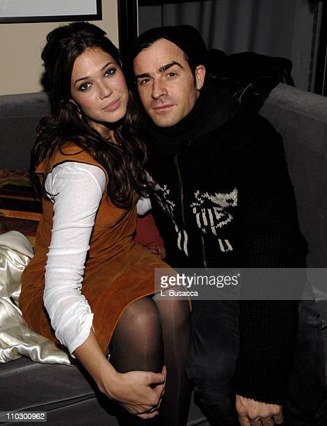Mandy Moore and Justin Theroux during 2007 Park City Hollywood Life House Cocktail Party for Dedication at Hollywood Life House in Utah United States