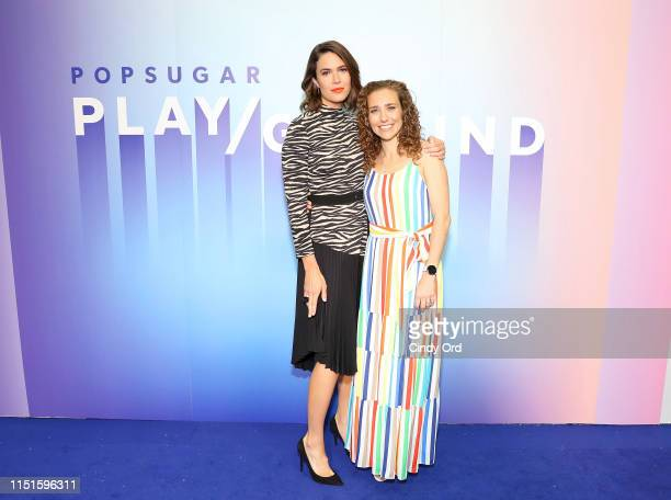 Mandy Moore and Lisa Sugar attend the POPSUGAR Play/ground at Pier 94 on June 22 2019 in New York City
