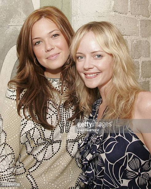 Mandy Moore and Marley Shelton during VDay and Glamour Honor Women in Conflict Zones Working For Peace at Campanile in Los Angeles California United...