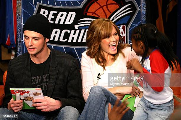Chasing Liberty Stars Mandy Moore And Matthew Goode Visit The Nba ... 23cf89397