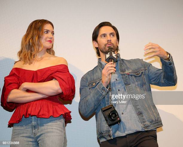 Mandy Moore and Milo Ventimiglia attend a screening of This Is Us 2nd season finale at the Paramount Theatre during South By Southwest on March 12...