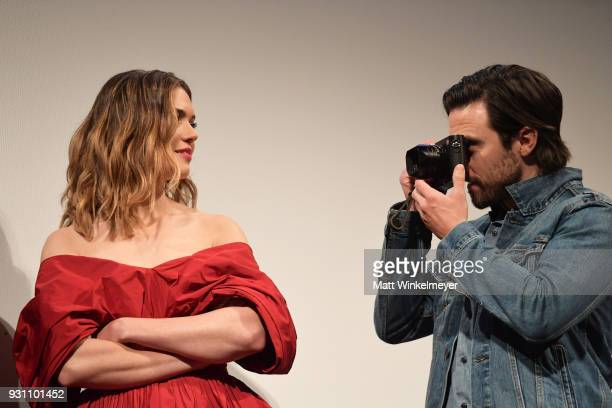 Mandy Moore and Milo Ventimiglia attend the 'This is Us' Premiere 2018 SXSW Conference and Festivals at Paramount Theatre on March 12 2018 in Austin...