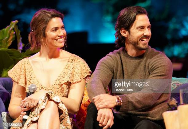 Mandy Moore and Milo Ventimiglia participate in the 20th Century Fox Television and NBC Present This Is Us FYC Event at John Anson Ford Amphitheatre...
