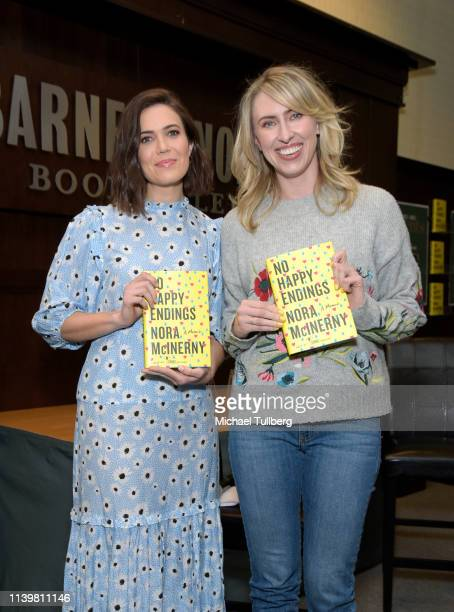 Mandy Moore and Nora McInerny attend a signing event for McInerny's book No Happy Endings A Memoir at Barnes Noble at The Grove on April 01 2019 in...