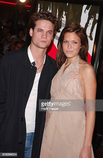 Mandy Moore and Shane West at the Ocean's Eleven premiere