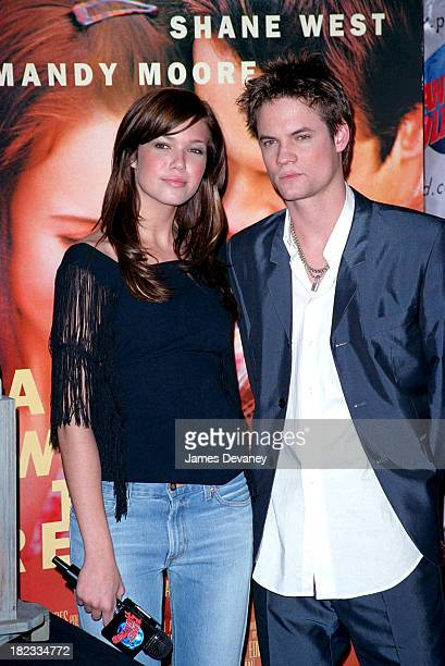 Mandy Moore and Shane West during Mandy Moore Shane West Attend A Special Screening Of Their Movie A Walk To Remember At Planet Hollywood at Planet...