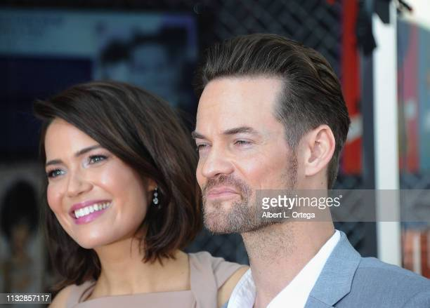 Mandy Moore and Shane West pose together at Mandy Moore's Star Ceremony On The Hollywood Walk Of Fame on March 25 2019 in Hollywood California
