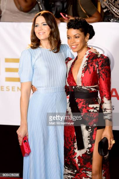 Mandy Moore and Susan Kelechi Watson attend the 49th NAACP Image Awards at Pasadena Civic Auditorium on January 15 2018 in Pasadena California
