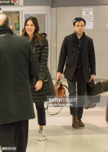 Mandy Moore and Taylor Goldsmith are seen on December 27 2017 in New York City