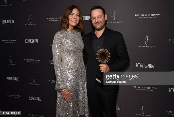 Mandy Moore and Visionary Award winner for 'This Is Us' Dan Fogelman attend the Los Angeles Confidential Impact Awards at The LINE Hotel on June 09...