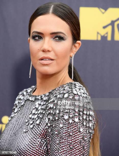 Mandy Moore arrives at the 2018 MTV Movie And TV Awards at Barker Hangar on June 16 2018 in Santa Monica California