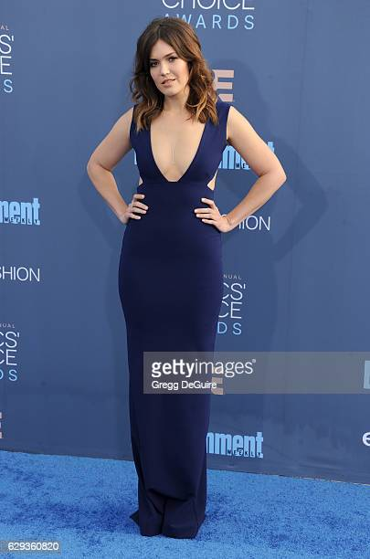 Mandy Moore arrives at The 22nd Annual Critics' Choice Awards at Barker Hangar on December 11 2016 in Santa Monica California