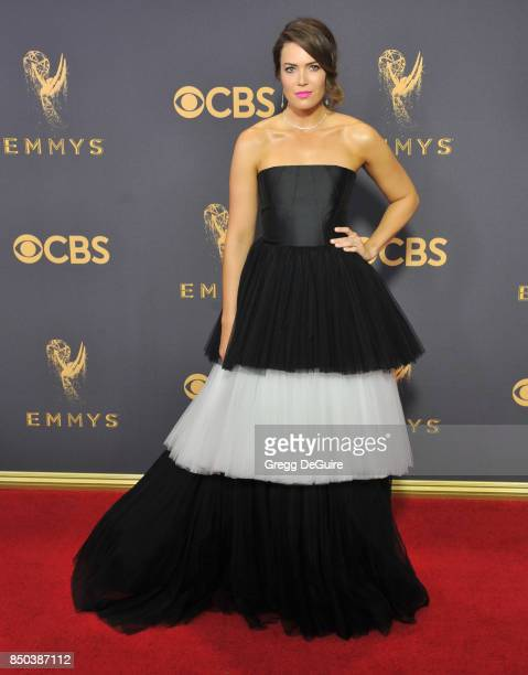 Mandy Moore arrives at the 69th Annual Primetime Emmy Awards at Microsoft Theater on September 17, 2017 in Los Angeles, California.