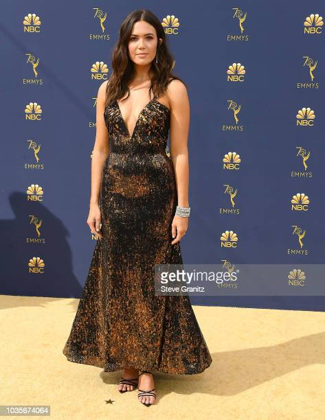 Mandy Moore arrives at the 70th Emmy Awards on September 17 2018 in Los Angeles California