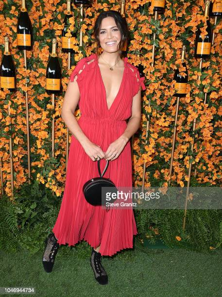 Mandy Moore arrives at the 9th Annual Veuve Clicquot Polo Classic Los Angeles at Will Rogers State Historic Park on October 6 2018 in Pacific...