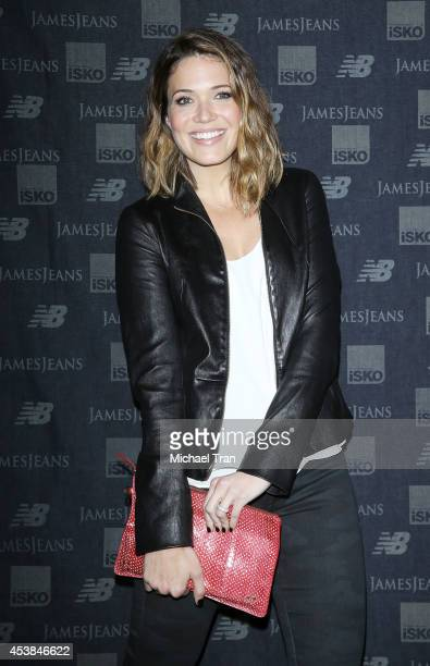 Mandy Moore arrives at the dance party with New Balance and James Jeans powered by ISKO held at a private residence on August 19 2014 in Beverly...