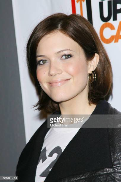 Mandy Moore arrives to the Stand Up To Cancer launch event held at Kitson Studio on December 10 2008 in Los Angeles California