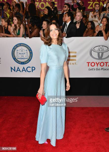 Mandy Moore at the 49th NAACP Image Awards on January 15 2018 in Pasadena California