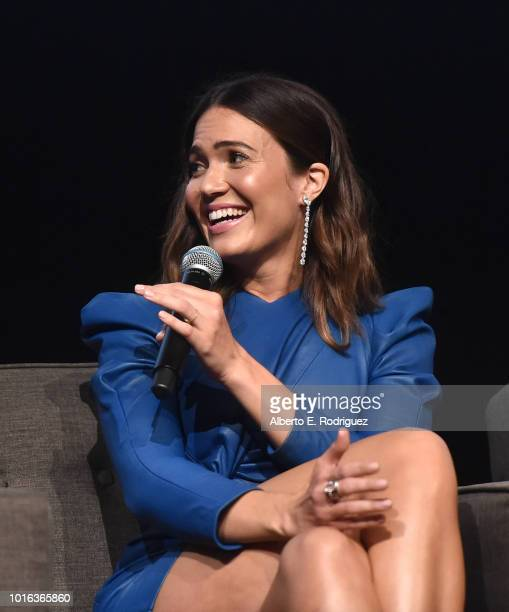 Mandy Moore attends a panel discussion for An Evening With This Is Us at Paramount Studios on August 13 2018 in Hollywood California