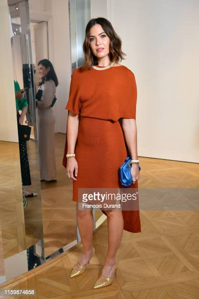 Mandy Moore attends NETAPORTER cocktail to celebrate a collection of high jewelry on July 03 2019 in Paris France
