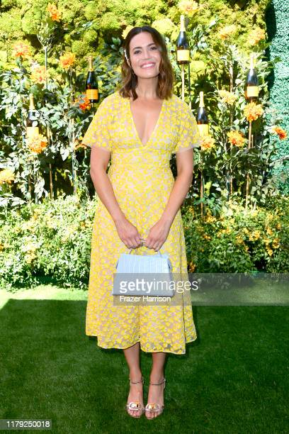Mandy Moore attends the 10th Annual Veuve Clicquot Polo Classic Los Angeles at Will Rogers State Historic Park on October 05 2019 in Pacific...