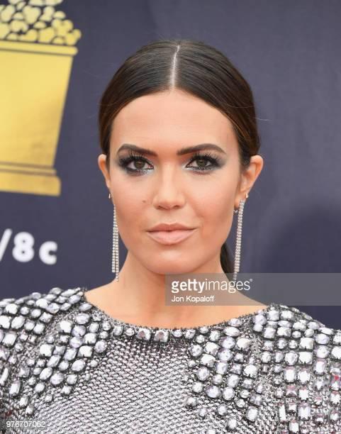 Mandy Moore attends the 2018 MTV Movie And TV Awards at Barker Hangar on June 16 2018 in Santa Monica California