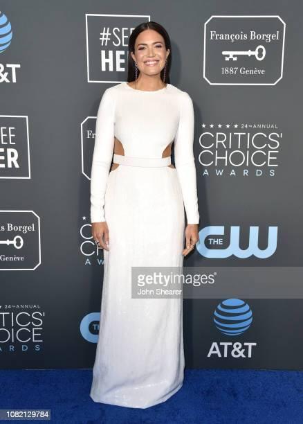 Mandy Moore attends The 24th Annual Critics' Choice Awards at Barker Hangar on January 13 2019 in Santa Monica California