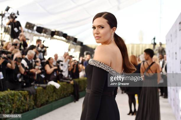 Mandy Moore attends the 25th Annual Screen Actors Guild Awards at The Shrine Auditorium on January 27 2019 in Los Angeles California