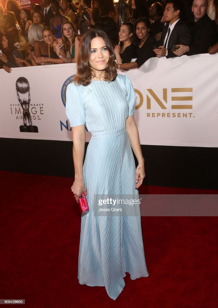 Mandy Moore attends the 49th NAACP Image Awards at Pasadena Civic Auditorium on January 15, 2018 in Pasadena, California.