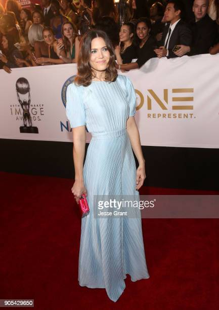 Mandy Moore attends the 49th NAACP Image Awards at Pasadena Civic Auditorium on January 15 2018 in Pasadena California