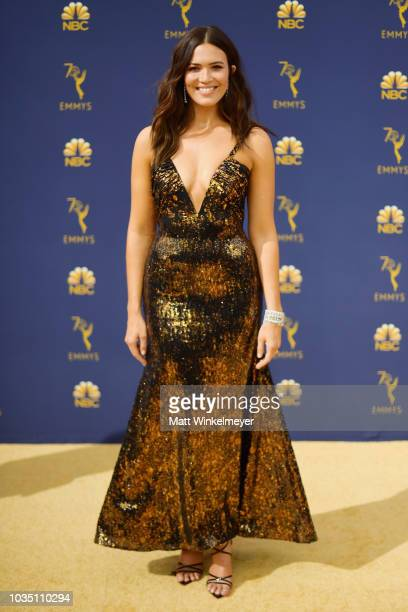 Mandy Moore attends the 70th Emmy Awards at Microsoft Theater on September 17 2018 in Los Angeles California