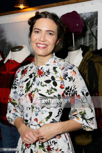 Mandy Moore attends the Eddie Bauer Kicks Off Holiday Adventure Campaign In Los Angeles at Marvin on November 14 2018 in Los Angeles California