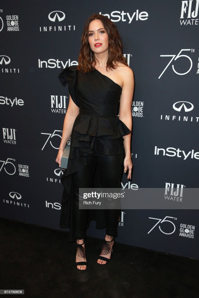 Mandy Moore attends the Hollywood Foreign Press Association and InStyle celebrate the 75th Anniversary of The Golden Globe Awards at Catch LA on November 15, 2017 in West Hollywood, California.