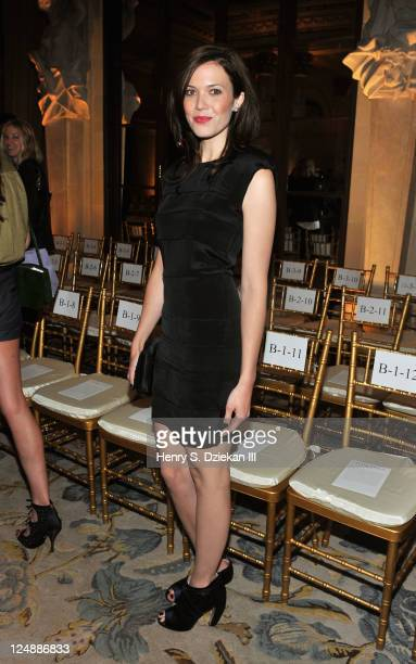 Mandy Moore attends the Marchesa Spring 2012 fashion show during MercedesBenz Fashion Week at The Plaza Hotel on September 13 2011 in New York City