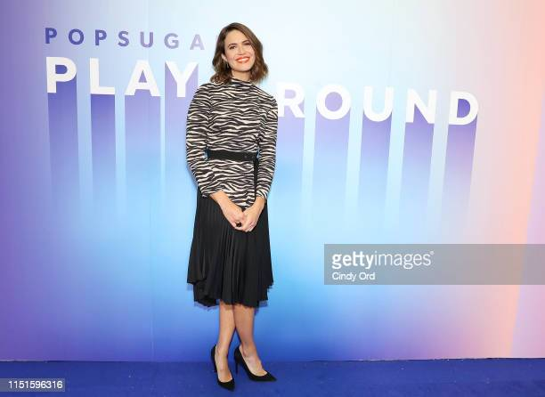Mandy Moore attends the POPSUGAR Play/ground at Pier 94 on June 22 2019 in New York City