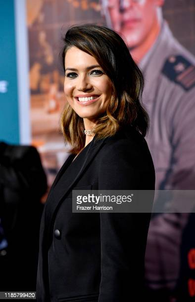 Mandy Moore attends the Premiere Of Lionsgate's Midway at Regency Village Theatre on November 05 2019 in Westwood California