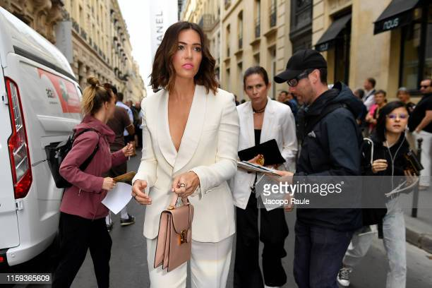 Mandy Moore attends the Schiaparelli Haute Couture Fall/Winter 2019 2020 show as part of Paris Fashion Week on July 01 2019 in Paris France