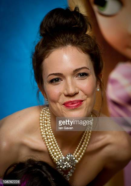 Mandy Moore attends the UK film premiere of 'Tangled' on January 23 2011 in London England