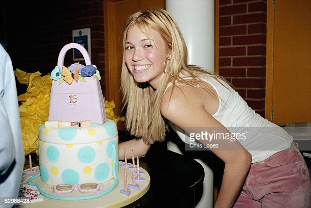 Mandy Moore celebrates her 16th birthday at the Oxo Tower London 2000