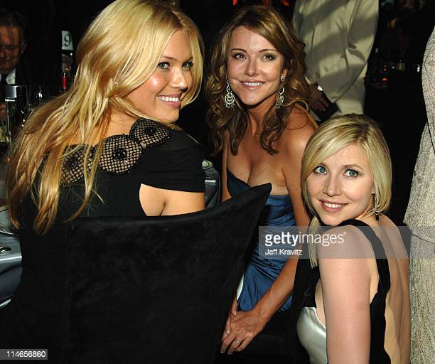 Mandy Moore Christa Miller and Sarah Chalke during 57th Annual Primetime Emmy Awards Governors Ball at The Shrine in Los Angeles California United...