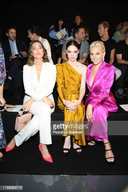 Mandy Moore, Coco Rocha and Pixie Lott attend the Schiaparelli Haute Couture Fall/Winter 2019 2020 show as part of Paris Fashion Week on July 01,...