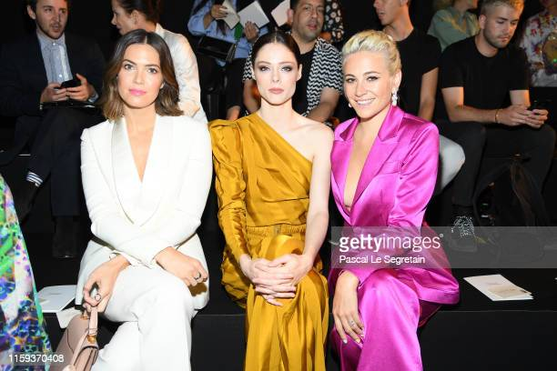 Mandy Moore Coco Rocha and Pixie Lott attend the Schiaparelli Haute Couture Fall/Winter 2019 2020 show as part of Paris Fashion Week on July 01 2019...