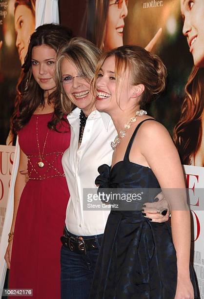 Mandy Moore Diane Keaton and Piper Perabo during Because I Said So Los Angeles Premiere Arrivals at Arclight Theater in Los Angeles California United...