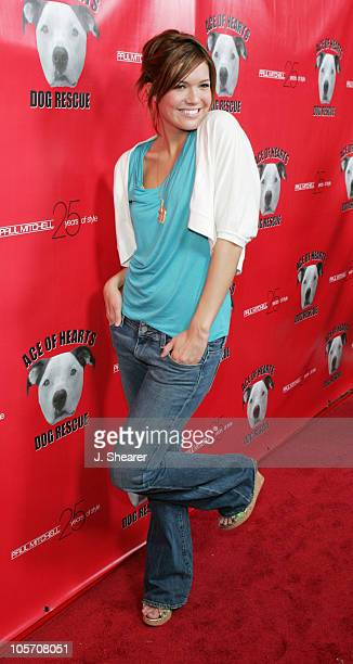Mandy Moore during Ace of Hearts' First Annual Hollywood Dog Bowl Hosted by Mandy Moore at Lucky Strike Lanes in Hollywood California United States