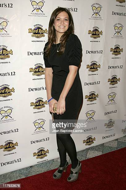 Mandy Moore during Andy Roddick 1st Annual Charity Celebrity Poker Tournament Arrivals at Seminole Hard Rock Hotel Casino in Miami Florida United...
